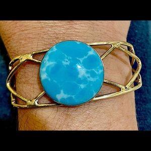HP💕Vintage Caribbean Larimar .925 Bracelet Cuff